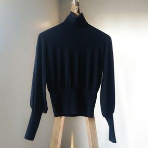 A.L.C. Sweaters - A.L.C. Balloon Sleeved Merino Wool Turtleneck